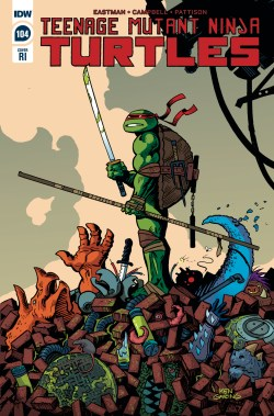 TMNT ONGOING #104 10 COPY INCV GARING (NET) (C: 1-0-0) 1:10 VARIANT (JAN200710)