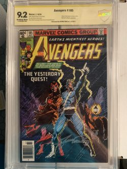 Avengers #185 CBCS Graded 9.2 Signed by George Perez