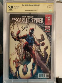 Scarlet Spider #1 CBCS Graded 9.8 Signed by Mark Bagley