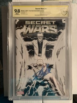 Secret Wars #1 CBCS Graded 9.8 Signed by Stan Lee