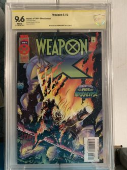 Weapon X #2 CBCS Graded 9.6 Signed by Adam Kubert