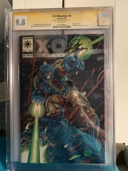 XO Manowar #0 CGC Graded 9.8 Signed by Bob Layton
