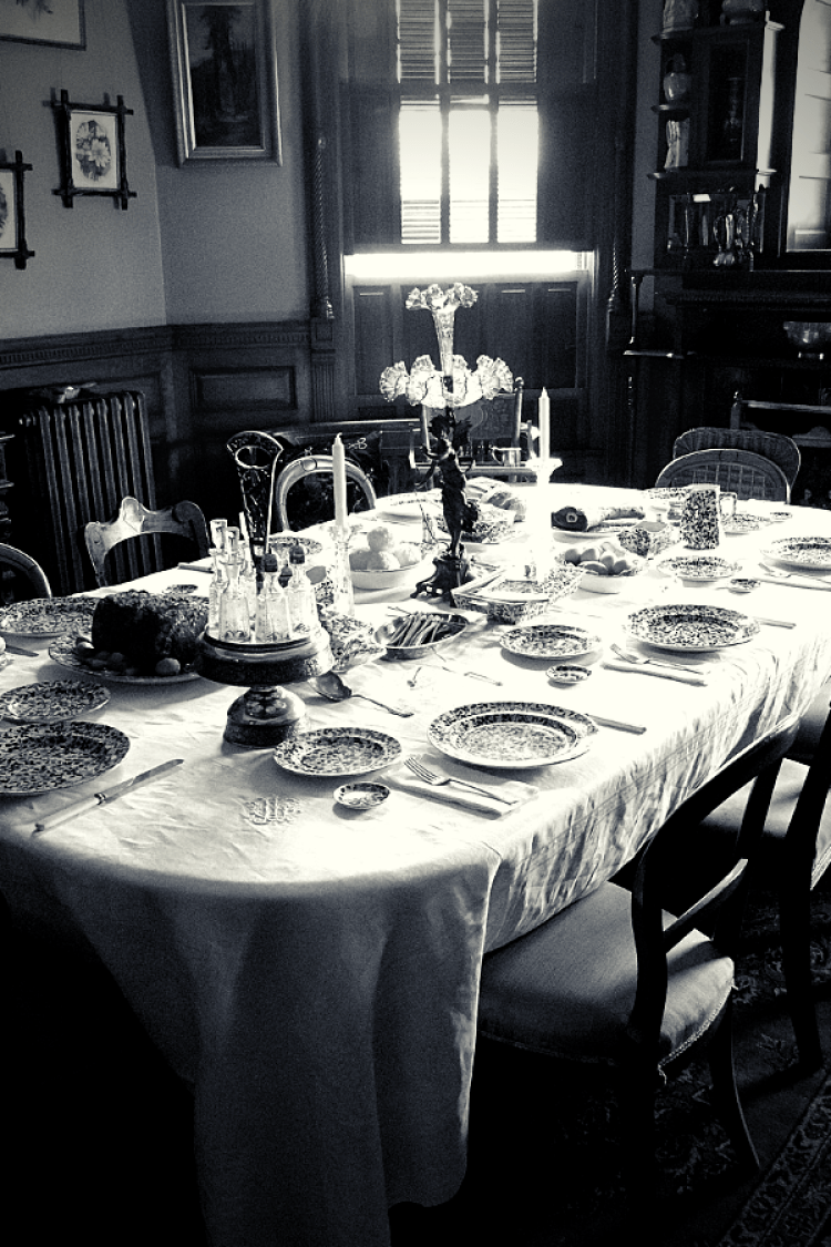 Spooky dining table