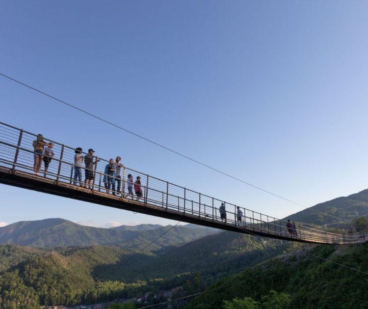 Gatlinburg Tennessee Suspension Bridge
