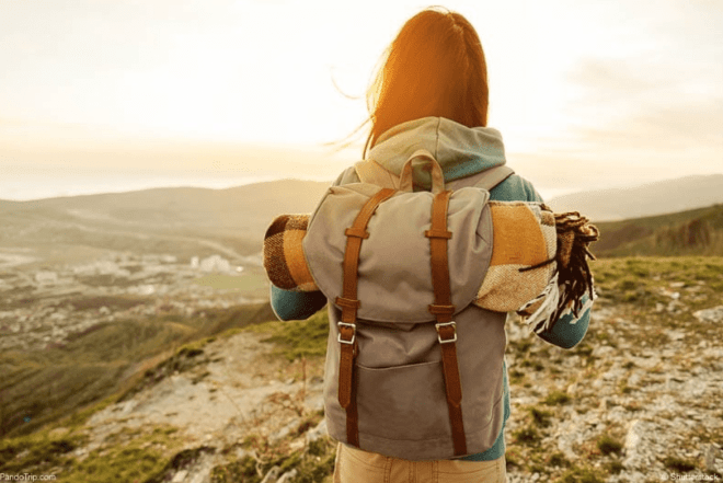 Travel with large backpack