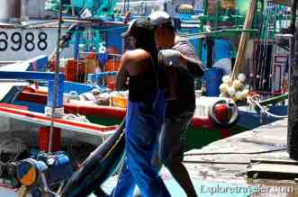 Yellowfin Tuna sushi lovers may know better as ahi at Su ao Port Taiwan