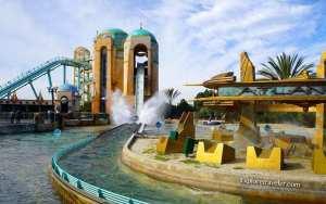 Journey to Atlantis, wet high speed fun at SeaWorld in San Diego California USA