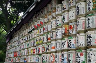 Meiji Jingu Shrine Sake Barrels