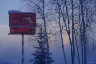 How cold is it in Alaska