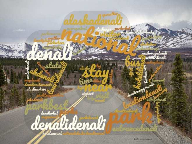 Word Cloud of Danali National Park Search terms and article