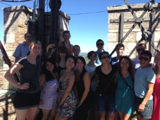 Group shot at the top of the Torre de Mangia.