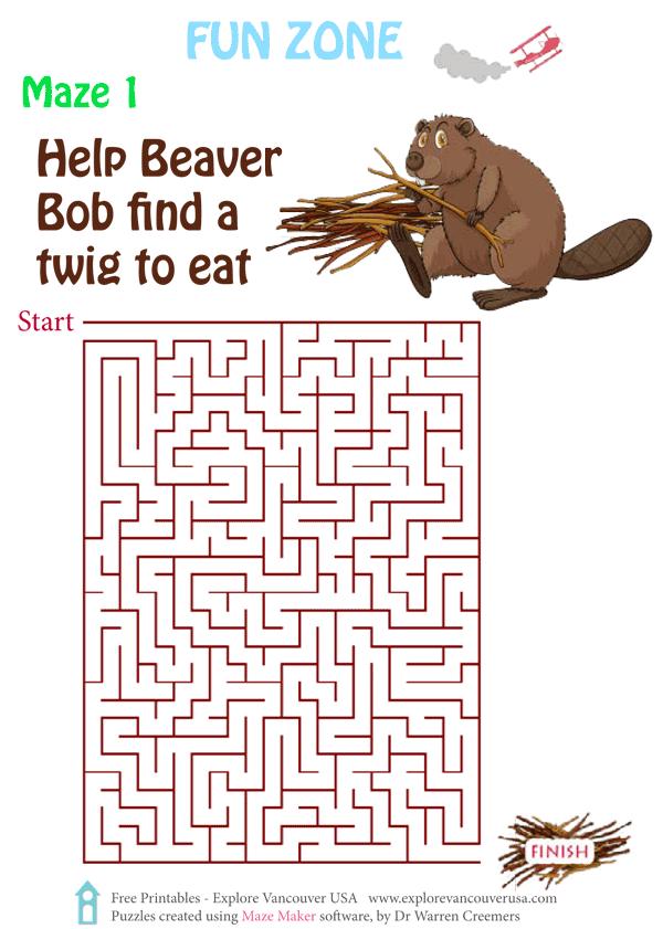Beaver Bob Maze 1