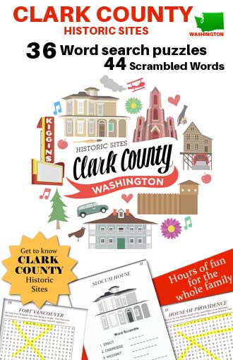 Clark County Washington Historical Sites Wordsearch puzzle book