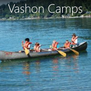 Information on all the camps on Vashon Island Washington