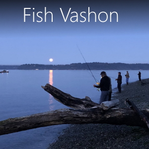 Where to fish on Vashon Island including beaches, streams and ponds on Vashon.