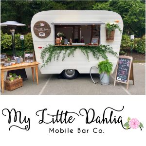 Vashon Island Wedding bar and bartender - My Little Dahlia Mobile Bar