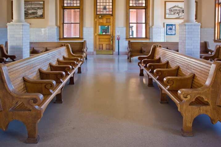 Centralia Union Depot, interior