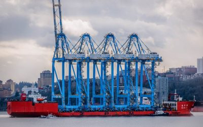 MASSIVE Ship Delivering HUGE Cranes to Tacoma – (Video Footage)