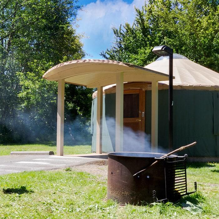 Washington State Camping in a Yurt