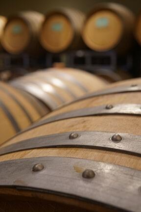 Wine barrels at Saviah Cellars
