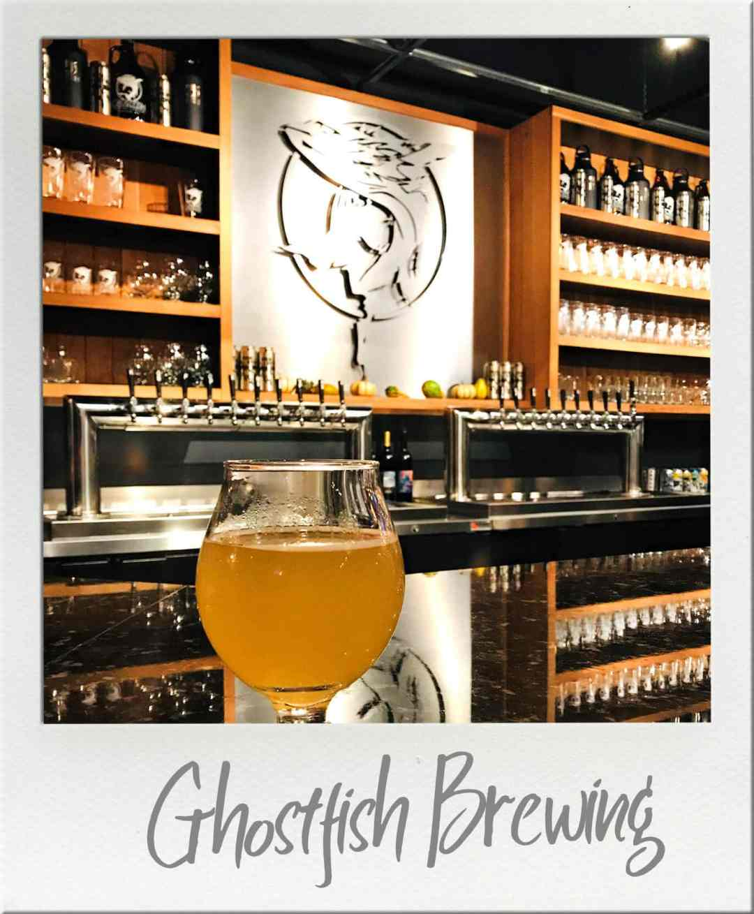 Beer and back bar at Ghostfish Brewing in SODO