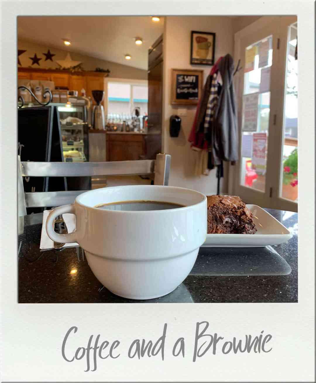 Coffee in a cup at Ocean Beach Roasters in Ocean Shores Washington