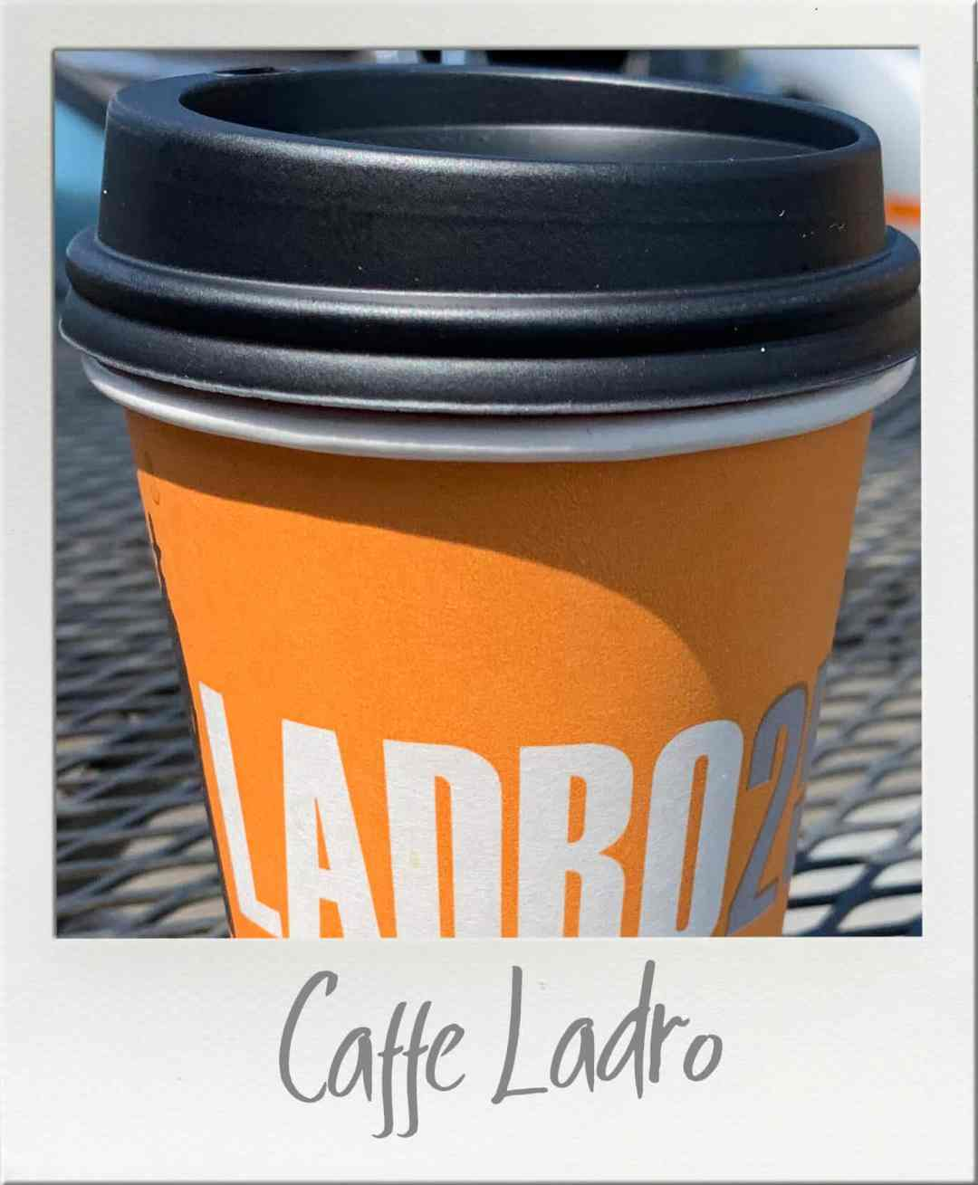 Caffe Ladro Coffee in Paper Cup