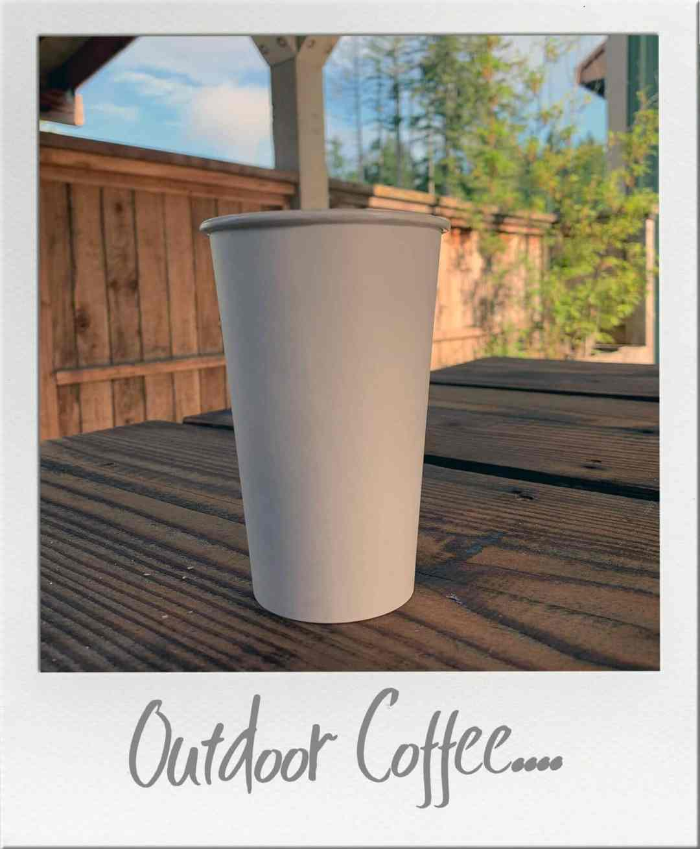 Blue Heron Coffee in Coffee Cup