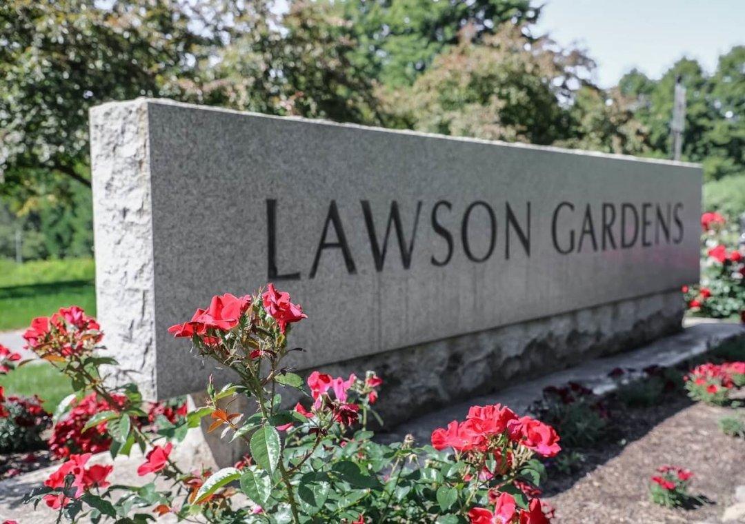 sign at lawson gardens