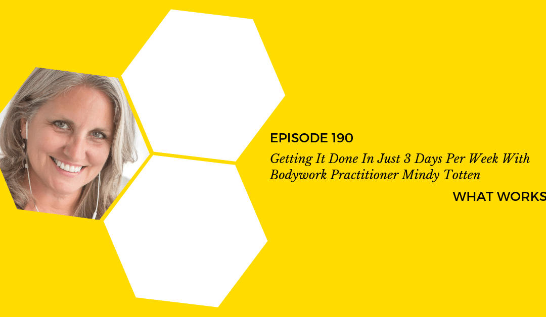 EP 190: Getting It Done In Just 3 Days Per Week With Oasis Center For Craniosacral Therapy Founder Mindy Totten