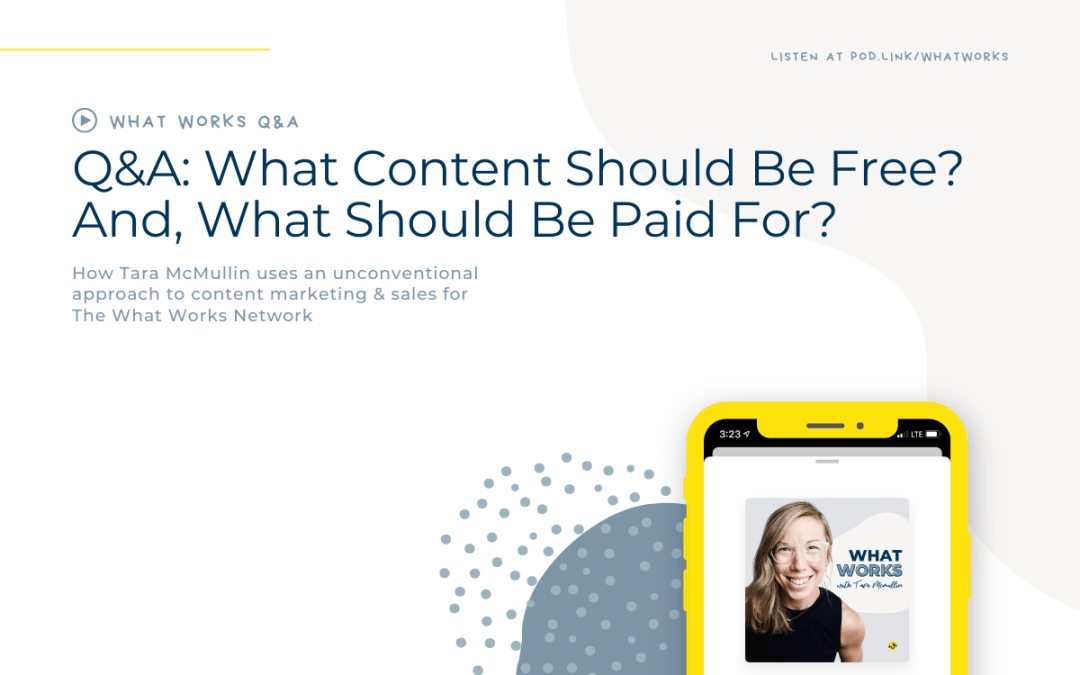 Q&A: What Content Should Be Free? And What Should Be Paid For?