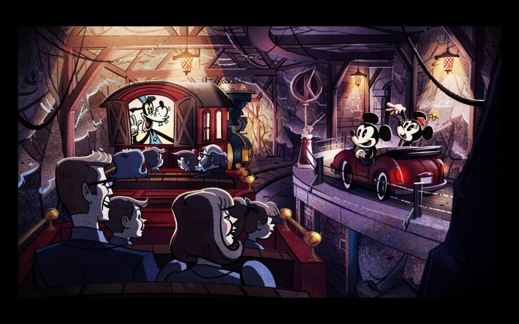 Concept Art of Mickey and Minnie's Runaway Railway