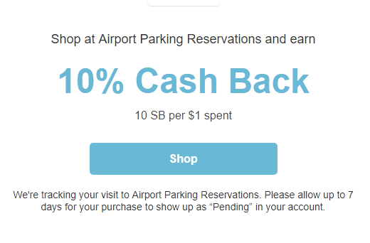 Cashback on Airport Parking