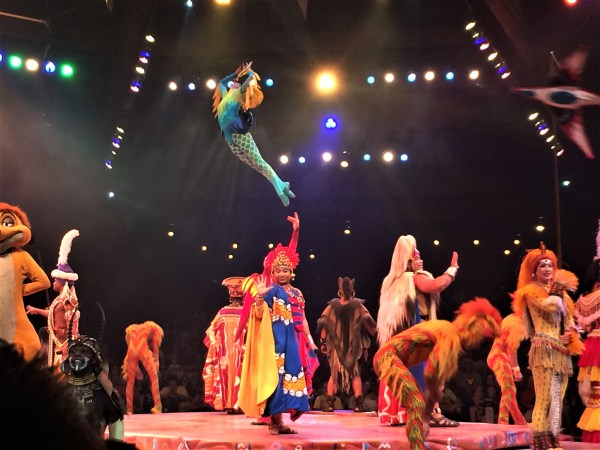 The finale of Festival of the Lion King Show in Disney's Animal Kingdom