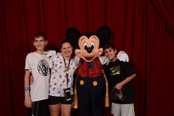 Meeting Mickey Mouse at Town Square Theater in Magic Kingdom at Walt Disney World