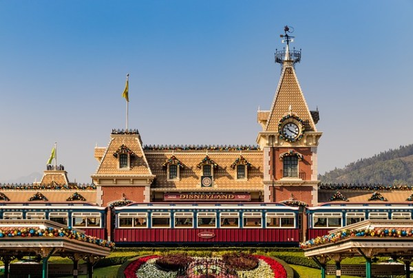 Train Station and Entrance to Disneyland in California