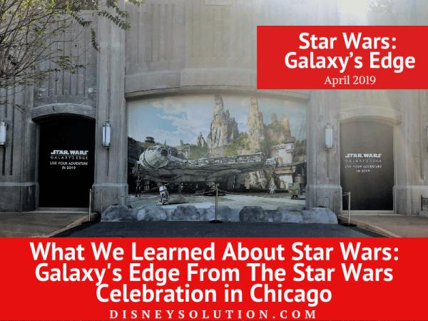 Star wars galaxy's edge April 2019