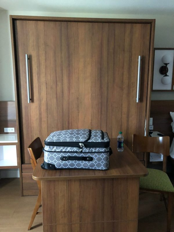 Murphy Bed in Diseny's Pop Century giving more room to walk around