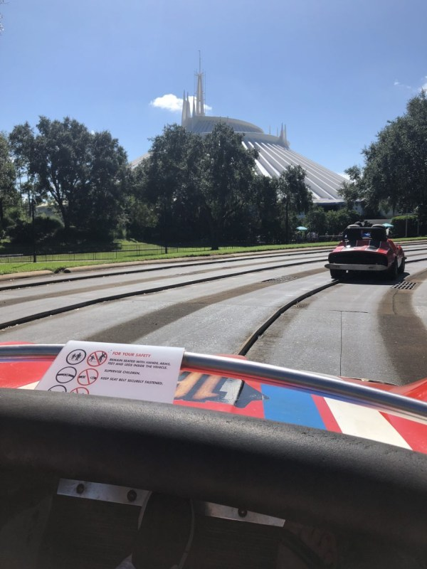 View from Tomorrowland Speedway