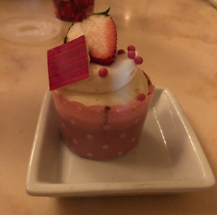 Strawberry Cream Cheese Cupcake at Be Our Guest