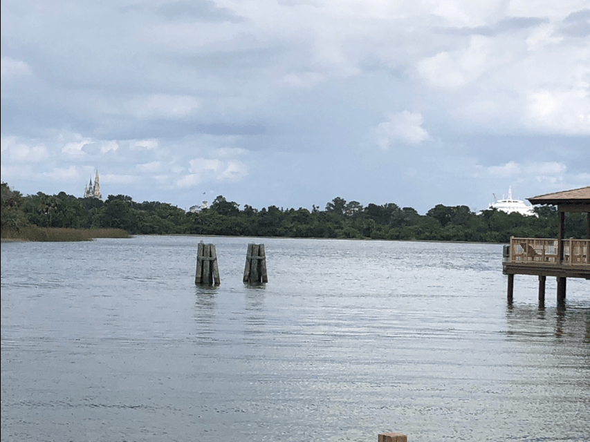 The seven seas lagoon, as seen from the Polynesian Village Resort