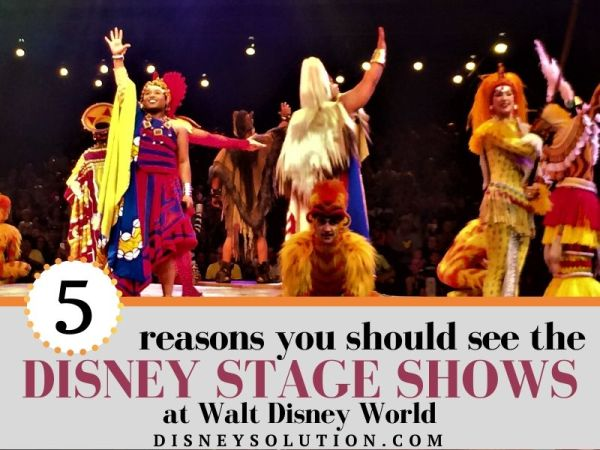 5 Reasons you should see the Disney Stage Shows