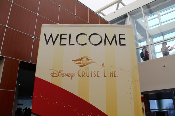 Welcome sign for the Disney Cruise Line