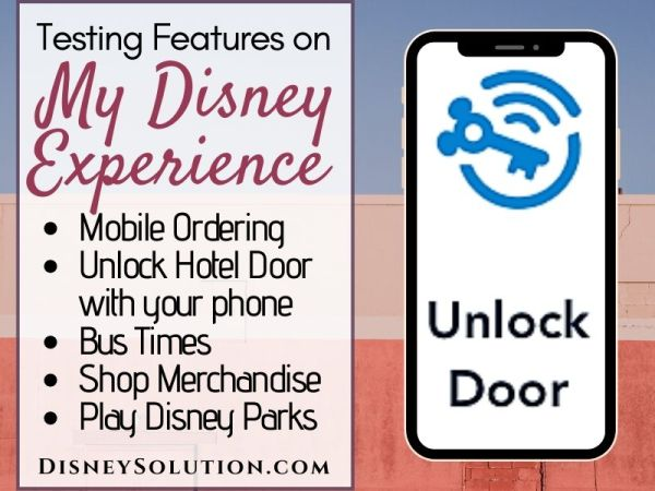 Testing Features on My Disney Experience