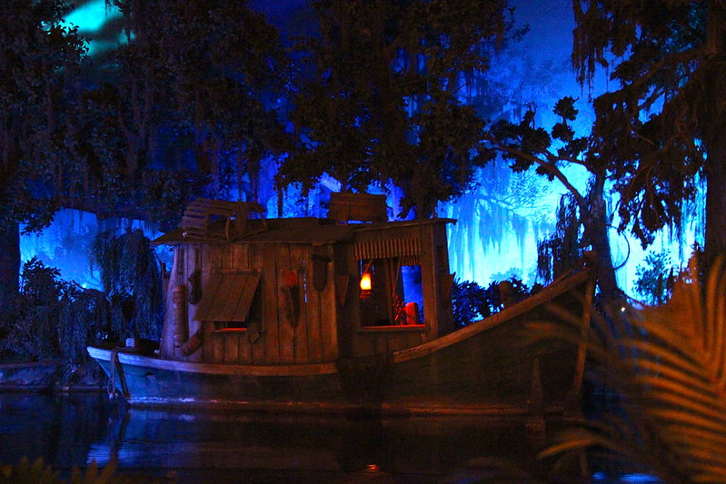 Inside Pirates of the Caribbean in Disneyland California