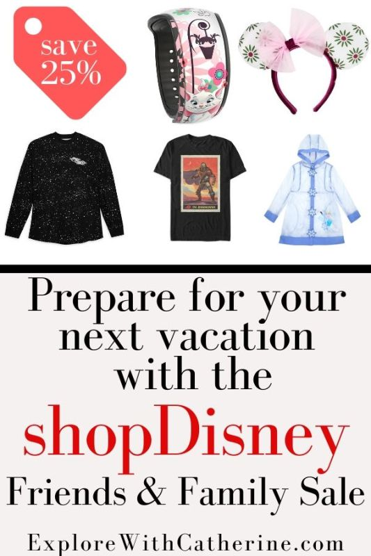 Prepare for your next vacation with the ShopDisney Friends and Family Sale