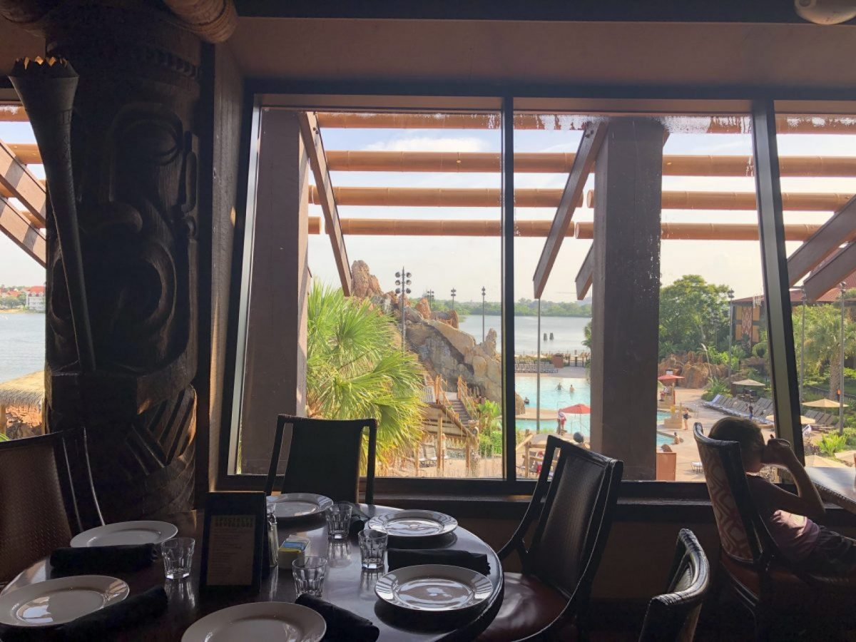 View into Magic Kingdom from Ohana at Disney's Polynesian Resort
