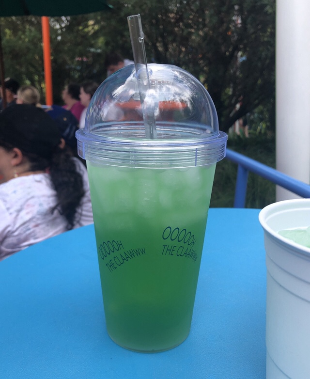 """Green """"alien"""" drink from Woody's Lunch Box in Hollywood Studios"""