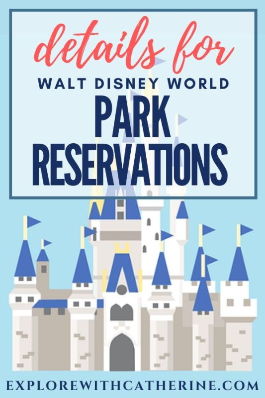 Walt Disney World Park Reservation Details Released