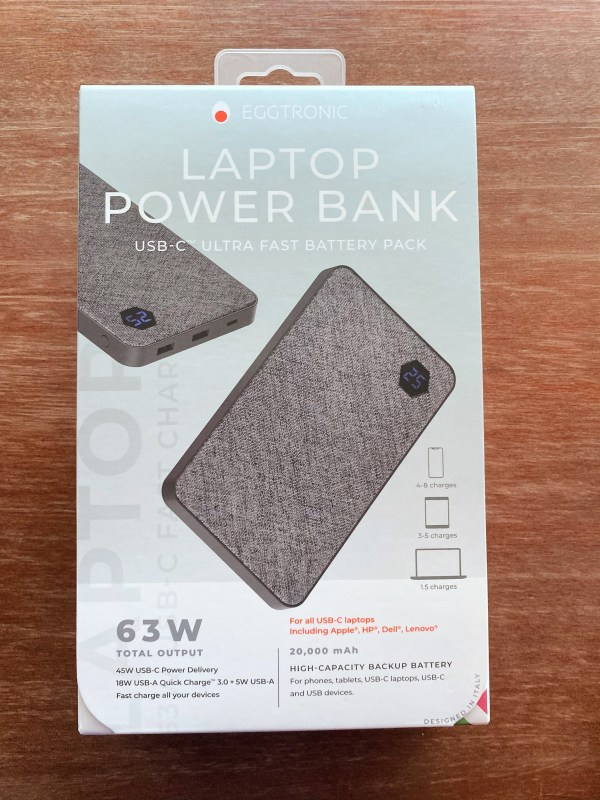 Package for the Eggtronic Laptop Power Bank